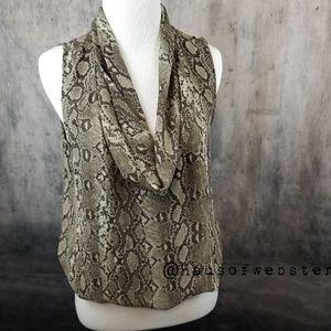 [Michael Kors] snake patterned drape neck blouse